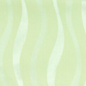 Honeysuckle Ribbon - Cream - Fabric blended from cotton and polyester with an uneven, wavy line design in light yellow-green, pale grey and