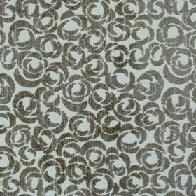 Opulence Ritz - Nutmeg - Rose print polyester and viscose blend fabric with a gunmetal grey and white stylised design