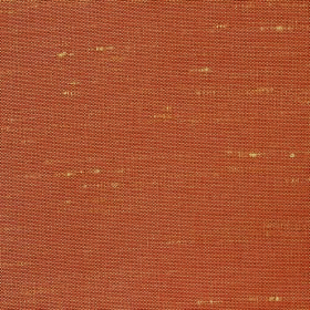 Parade - Burnt Orange - A few light yellow threads showing through on light terracotta coloured 100% polyester fabric