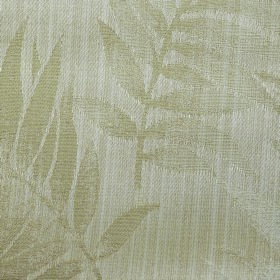 Rufford Fern - Beige - Subtle leaf patterned polyester and cotton blend fabric in light beige and off-white colours