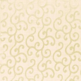 Symphony Alegria - Oatmeal - Swirl patterned polyester and cotton blend fabric in one light and one slightly darker shade of cream