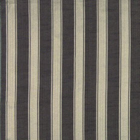 Symphony Mundo - Taupe - Dark grey and stone coloured striped polyester and cotton blend fabric with a regular design