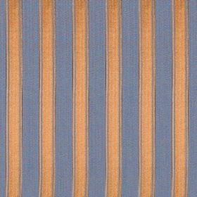 Symphony Mundo - Orchid - Regular bright orange and denim blue coloured stripes on fabric containing a polyester and cotton blend
