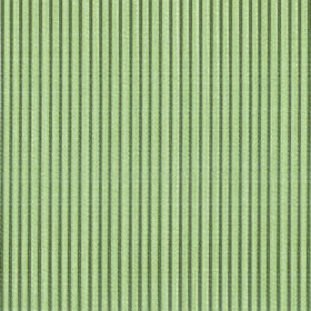 Symphony Raya - Sage - Polyester and cotton blend fabric striped with narrow lines in light green and dark forest green