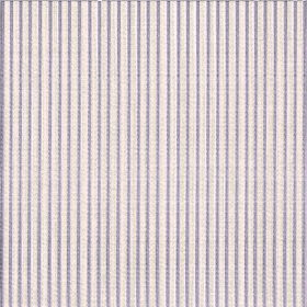 Symphony Raya - Sable - Fabric containing polyester and cotton in off-white, patterned with purple-grey coloured vertical pinstripe style li