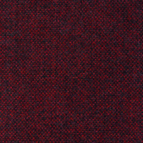 Thistle Doyle - Red - Deep red and dark grey pixellated fabric made from 100% polyester