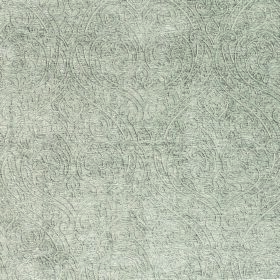 Weaver Ripley - Linen - Very subtly patterned white and pale grey coloured fabric containing a polyester and cotton blend