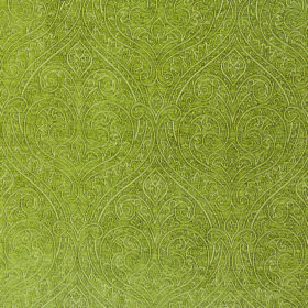Weaver Ripley - Moss - Olive green polyester and cotton blend fabric with a very subtle, pale line design which is large, repeated and ornat