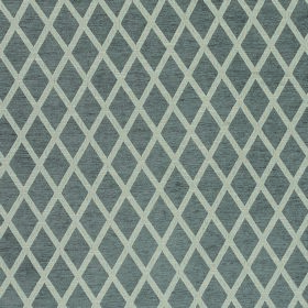 Weaver Finch - Mushroom - Rows of mid-grey diamonds arranged in rows over a lighter grey background made from polyester and cotton fabric
