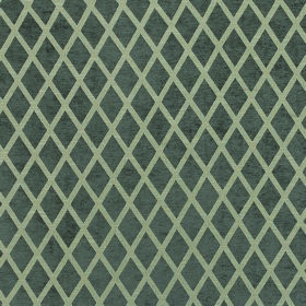 Weaver Finch - Pewter - Diamond patterned polyester and cotton blend fabric featuring a repeated, regular, simple design in two shades of gr