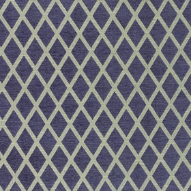 Weaver Finch - Plum - Dark purple and very pale grey making up a very simple regular diamond pattern on fabric containing polyester and cott