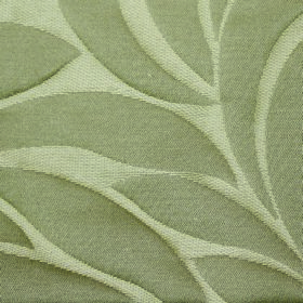 Willow Large Leaf - Biscuit - Cream and beige coloured fabric containing polyester and linen with a very simple pattern of large leaves
