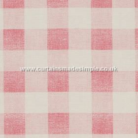 Check - Pink - Pink and white tartan fabric