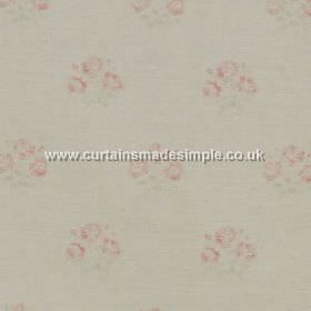 Kitty - Pink - Small pink roses on white fabric