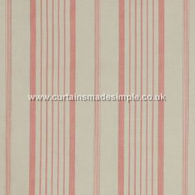 Ticking - Pink - Pink stripes on light sandy fabric