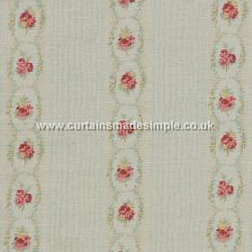 Rose - Cameo - Rose stripes on cameo blue fabric