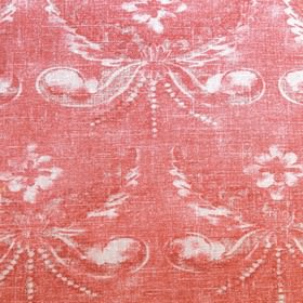 Josephine - Red - Red fabric with classic floral decoration