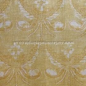 Josephine - Yellow - Yellow fabric with classic floral decoration