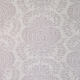Margot - Mauve Linen - Light blue-grey linen-synthetic blend fabric with a repeated pattern which is both subtle and grand