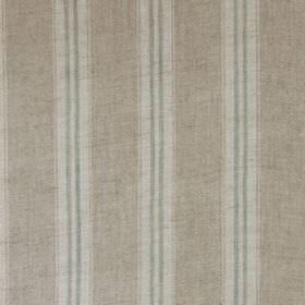 Stripe - Duckegg Linen - Stripes in three different pale shades of grey running vertically down a 100% linen fabric