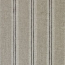 Stripe - Dove Linen - 100% linen fabric with a regular striped pattern in three different shades of grey