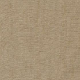 Plain - Natural - Fabric made from sand coloured 100% linen