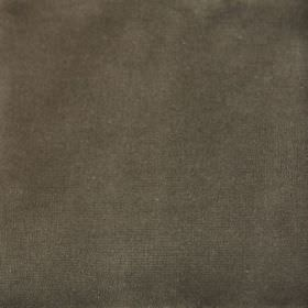 Velvet - Mole - Fabric with a cotton and synthetic mix in a plain dark brown-grey colour
