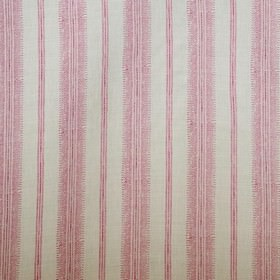 Camille - Light Pink - Linen and synthetic blend fabric made in dark pink and pale grey-white, featuring tiny, detailed dots, lines and patter
