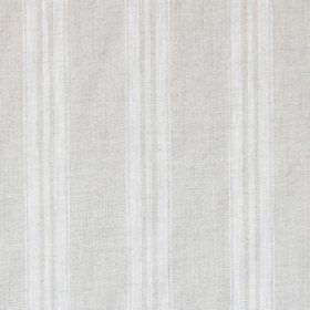 Stripe - White - Subtle vertical stripes printed in a simple design on 100% linen fabric in two similar light shades of grey