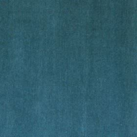 Velvet - Teal - Rich marine blue coloured cotton and synthetic blend fabric