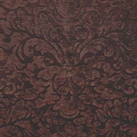 Banbury - Chocolate Brown - Very dark shades of brown and grey making up an ornate, flamboyant pattern on filament and chenille polyester blen