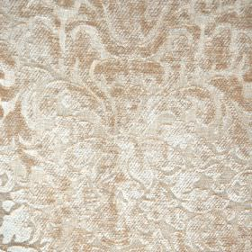 Banbury - Oatmeal - Subtle, textured patterns covering filament and chenille polyester blend fabric in an ornate design & warm cream colours