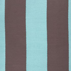 Gardenia Stripe - Turquoise - Fabric made from polyester and viscose, with a simple, vertical block stripe design in bright sky blue and dar