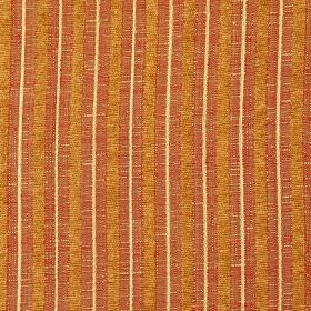 Hampshire Stripe - Amber - Bronze, red-orange and light cream coloured polychenille, polyester and cotton blend fabric, with a vertical stripe
