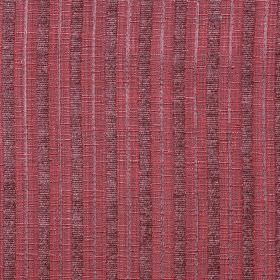 Hampshire Stripe - Damson - Strawberry pink and two shades of purple making up vertical stripes on polychenille, polyester and cotton blend