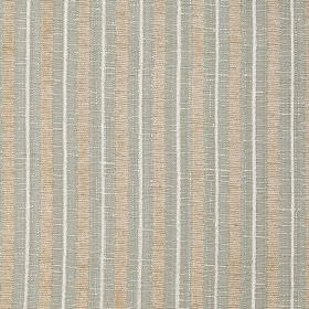Hampshire Stripe - Eau De Nil - Polychenille, polyester and cotton blend fabric made with a white, cream and light blue-grey vertical stripe