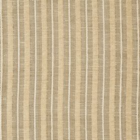 Hampshire Stripe - Latte - Vertical stripes in white, cream and light brown, patterning polychenille, polyester and cotton blend fabric
