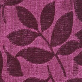 Henley - Cerise - Polychenille and filament yarn blend fabric made in two shades of violet, featuring raised, textured leaf designs