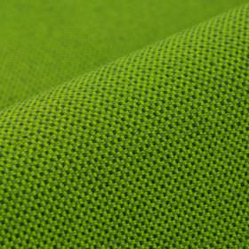 Silvretta CS - Green - Bright kiwi green coloured tiny grid giving a waffle texture to 100% Trevira CS fabric in a darker forest shade of gr