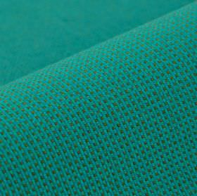 Silvretta CS - Blue - Aqua blue and light grey coloured fabric made from 100% Trevira CS, with a tiny, slightly textured waffle style grid