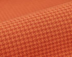Pollux CS - Orange - Houndstooth patterned 100% Trevira CS fabric made in two very similar shades of salmon pink