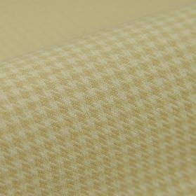 Pollux CS - Beige - 100% Trevira CS fabric covered with a small houndstooth pattern in off-white and light cream colours