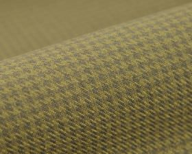 Pollux CS - Brown (10) - 100% Trevira CS fabric woven in a houndstooth patterned design in wheat and dark grey colours