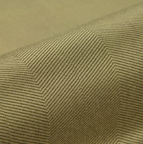 Eiger CS - Beige Brown - A pattern of thin, diagonal lines patterning fabric made from 100% Trevira CS in black and pewter colours