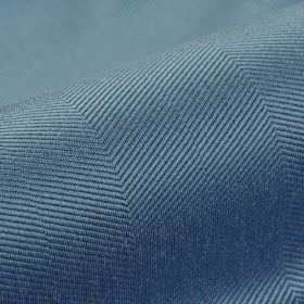 Eiger CS - Blue - Powder blue coloured 100% Trevira CS fabric featuring a diagonal pattern made up of subtle grey lines