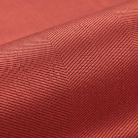 Eiger CS - Red - Thin, diagonal lines patterning fabric made from dusky pink coloured 100% Trevira CS, finished with a subtle sheen