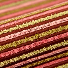 Stalden CS - Pink (8) - Striped 100% Trevira CS fabric featuring a textured design in maroon, rose pink, baby pink, cream and light gold col