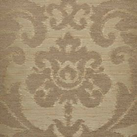 Ashley - Green - Two shades of grey-beige making up fabric made from three different materials, with large, ornate, leafy designs