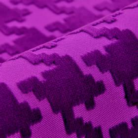 Valmorel CS - Purple (7) - Two vivid shades of purple in 100% Trevira CS fabric with slightly textured patterns of random shapes with angula