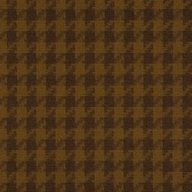 Corbier CS - Brown (2) - 100% Trevira CS fabric with a dark gold and chocolate brown coloured houndstooth pattern
